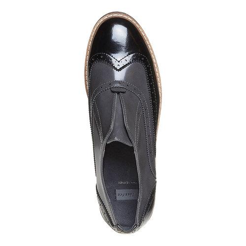 Scarpe basse da donna verniciate bata, grigio, 511-2194 - 19