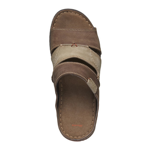 Slip-on da uomo in pelle bata, marrone, 866-4191 - 19