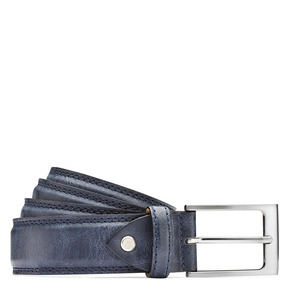 Cintura blu da uomo bata, blu, 954-9828 - 13