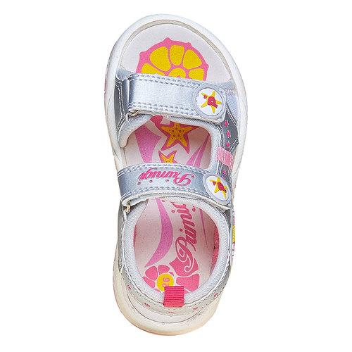 Sandali argentati per bambina primigi, grigio, 261-2141 - 19