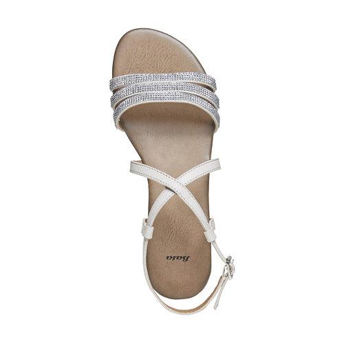 Sandali da donna con strass bata, grigio, 561-2319 - 19