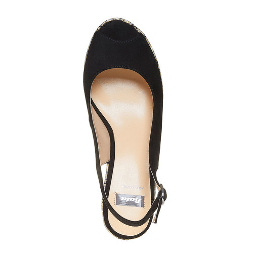Sandali con lati chiusi bata, nero, 769-6522 - 19