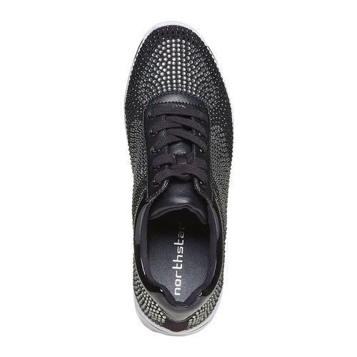 Sneakers da donna con strass, nero, 549-6261 - 19