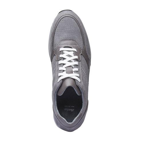 Sneakers da uomo in pelle bata, grigio, 843-2645 - 19