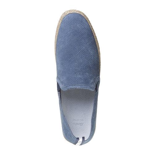 Slip-on da uomo in pelle bata, blu, 853-9216 - 19