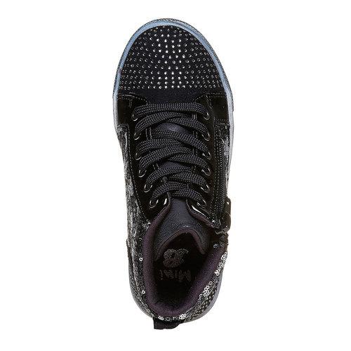 Sneakers da bambina con glitter mini-b, nero, 229-6174 - 19