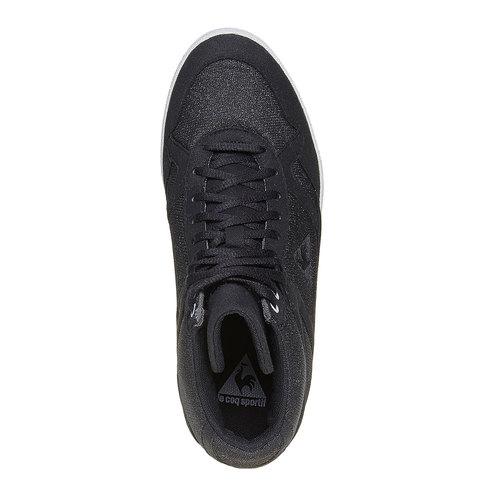 Sneakers nere da donna con zeppa le-coq-sportif, nero, 503-6349 - 19