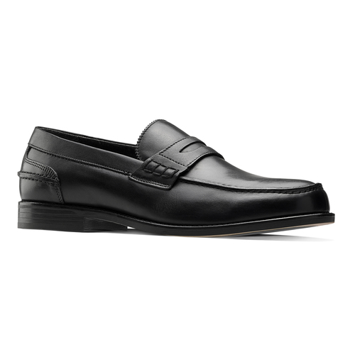 Penny loafer in pelle bata, nero, 814-6128 - 13