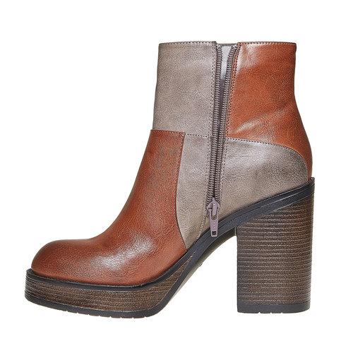 Stivaletti alla moda bata, marrone, 791-3301 - 19