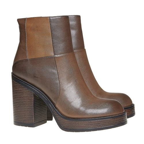 Stivaletti da donna alla moda bata, marrone, 791-4301 - 26