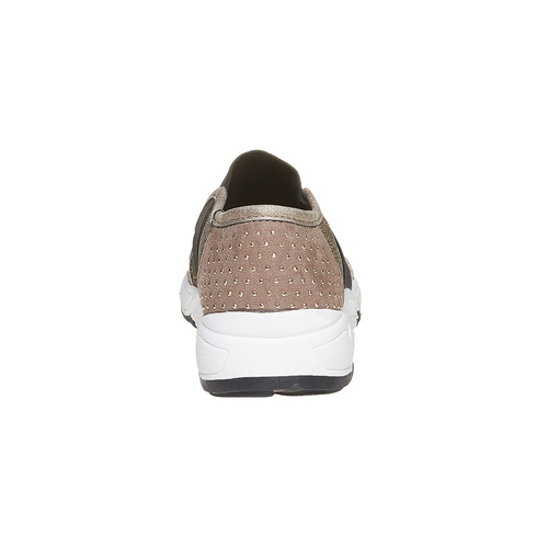 Slip-on da bambina con borchie mini-b, giallo, 329-8218 - 17