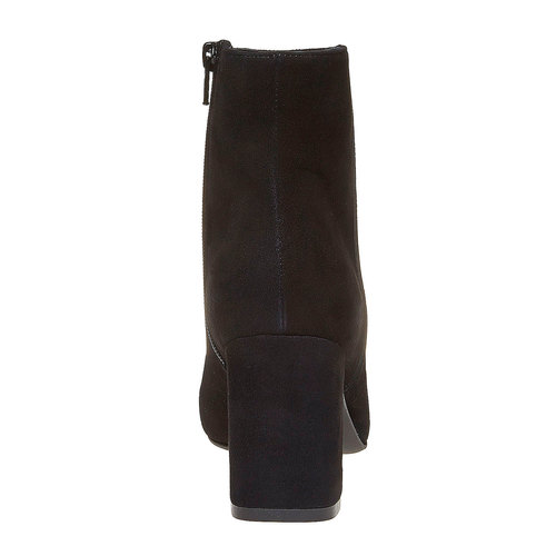 Stivaletti in pelle con tacco a cono bata, nero, 793-6573 - 17