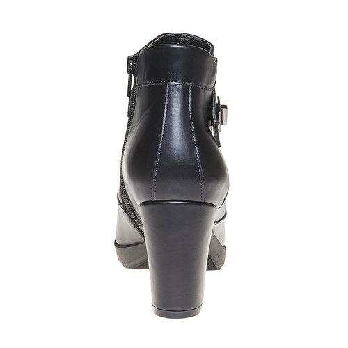 Scarpe da donna alla caviglia bata, nero, 791-6443 - 17