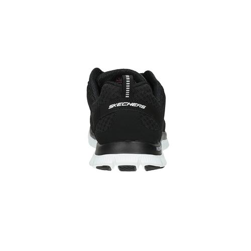 Sneakers nere sportive da donna skechers, nero, 509-6352 - 17