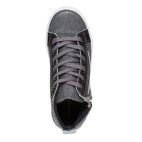 Sneakers dorate alla caviglia north-star, argento, 329-2236 - 19