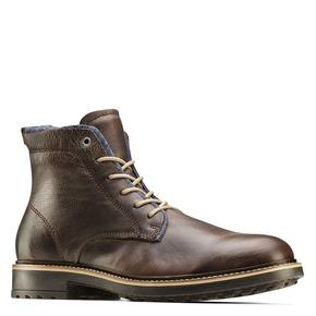 Scarpe di pelle alla caviglia da uomo bata, marrone, 894-4522 - 13