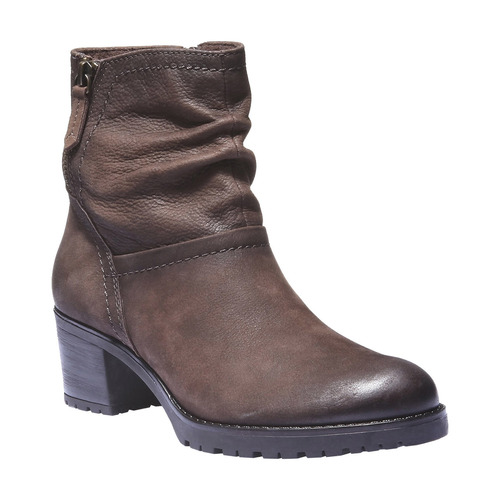 Stivaletti in pelle alla caviglia bata, marrone, 696-4128 - 13