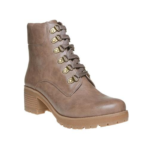 Stivaletti da donna caviglia con lacci bata, marrone, 691-3259 - 13