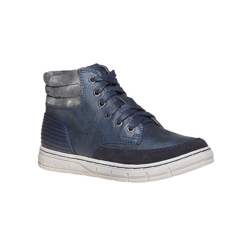 Sneakers da bambino alla caviglia mini-b, blu, 391-9257 - 13