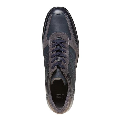 Sneakers da uomo in pelle bata, blu, 844-9214 - 19