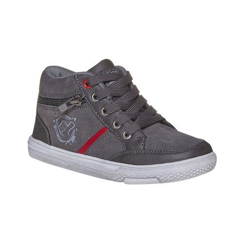 Sneakers di pelle alla caviglia mini-b, grigio, 313-2236 - 13