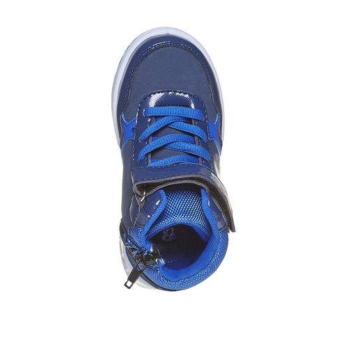 Sneakers da bambino alla caviglia, blu, 211-9164 - 19