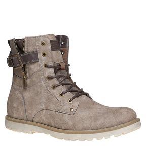 Scarpe da uomo alla caviglia bata, beige, 891-2237 - 13