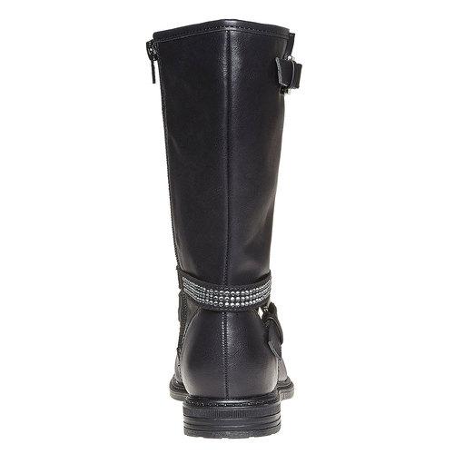 Stivali da ragazza con strass mini-b, nero, 391-6250 - 17