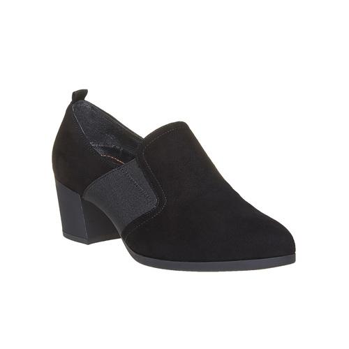 Scarpe basse di pelle con tacco flexible, nero, 613-6111 - 13