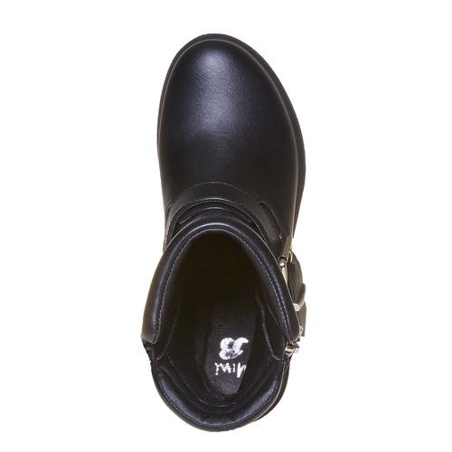Stivali da bambina con suola massiccia mini-b, nero, 391-6230 - 19