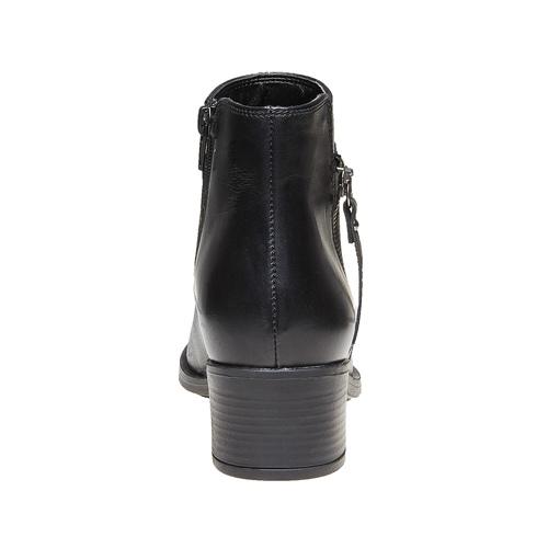 Scarpe di pelle alla caviglia bata, nero, 694-6166 - 17