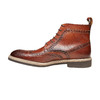 Scarpe in pelle sopra la caviglia con decorazione Brogue bata-the-shoemaker, marrone, 824-3183 - 19