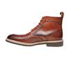 Scarpe in pelle sopra la caviglia con decorazione Brogue, marrone, 824-3183 - 19