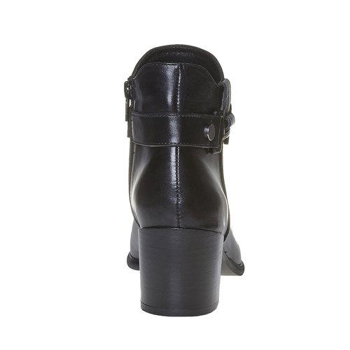 Scarpe da donna alla caviglia bata, nero, 694-6387 - 17