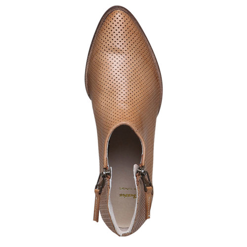 Stivaletti di pelle alla caviglia bata, marrone, 594-3400 - 19