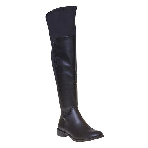 Stivali da donna sopra il ginocchio bata, nero, 591-6513 - 13