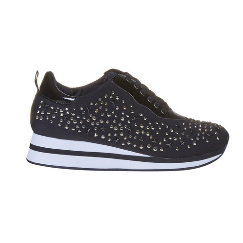 Sneakers da donna con plateau north-star, nero, 549-6139 - 15