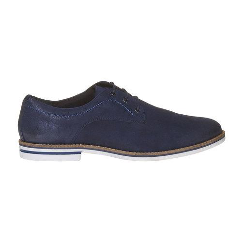 Scarpe basse informali di pelle bata, blu, 826-9642 - 15