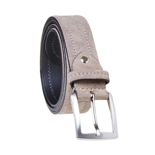 Cintura in pelle beige bata, grigio, 953-2104 - 13