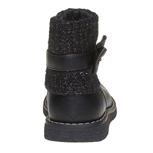 Scarpe da bambino con tessuto a maglia mini-b, nero, 291-6154 - 17