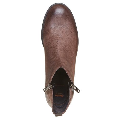 Scarpe di pelle sopra la caviglia flexible, marrone, 594-4227 - 19