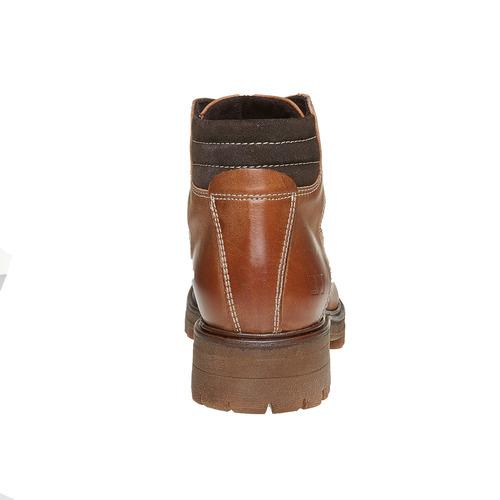 Scarpe di pelle alla caviglia weinbrenner, marrone, 594-3810 - 17