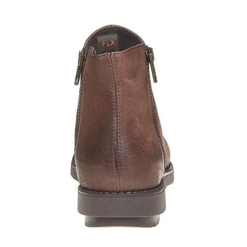 Scarpe di pelle sopra la caviglia flexible, marrone, 594-4227 - 17