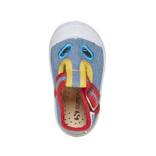 Sandali colorati per i più piccoli superga, blu, 169-0314 - 19