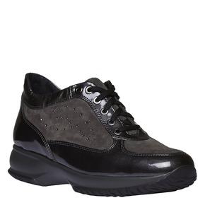 Sneakers da donna in pelle bata, grigio, 623-2229 - 13