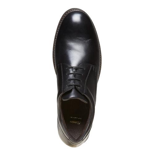 Scarpe basse Derby di pelle da uomo bata, nero, 824-6219 - 19