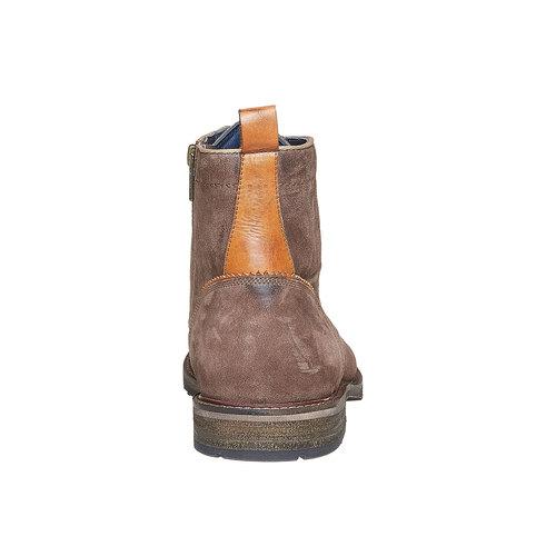 Scarpe in pelle da uomo alla caviglia bata, marrone, 893-4357 - 17