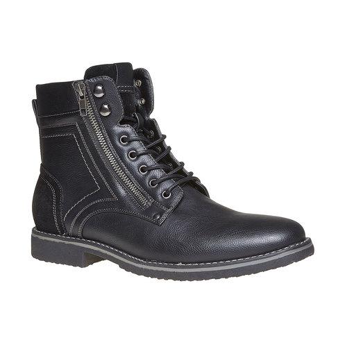 Scarpe da uomo alla caviglia, nero, 891-6568 - 13