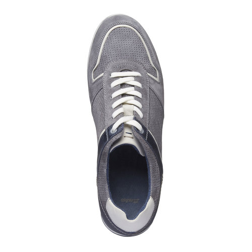 Sneakers da uomo in pelle bata, grigio, 843-2637 - 19