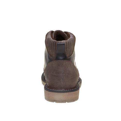Scarpe di pelle alla caviglia bata, marrone, 894-4271 - 17